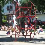 Man On A Giant Wheel