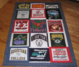 Quilted T-Shirt Blanket