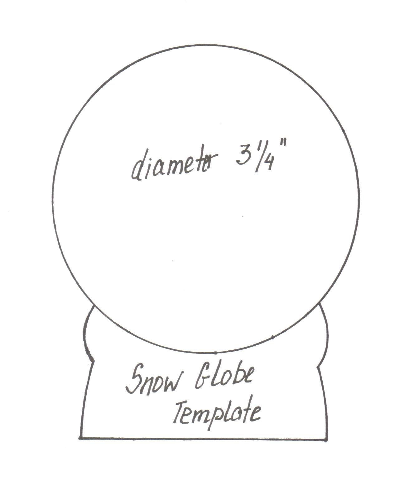 Paper Snow Globe Template Snow Globe Template