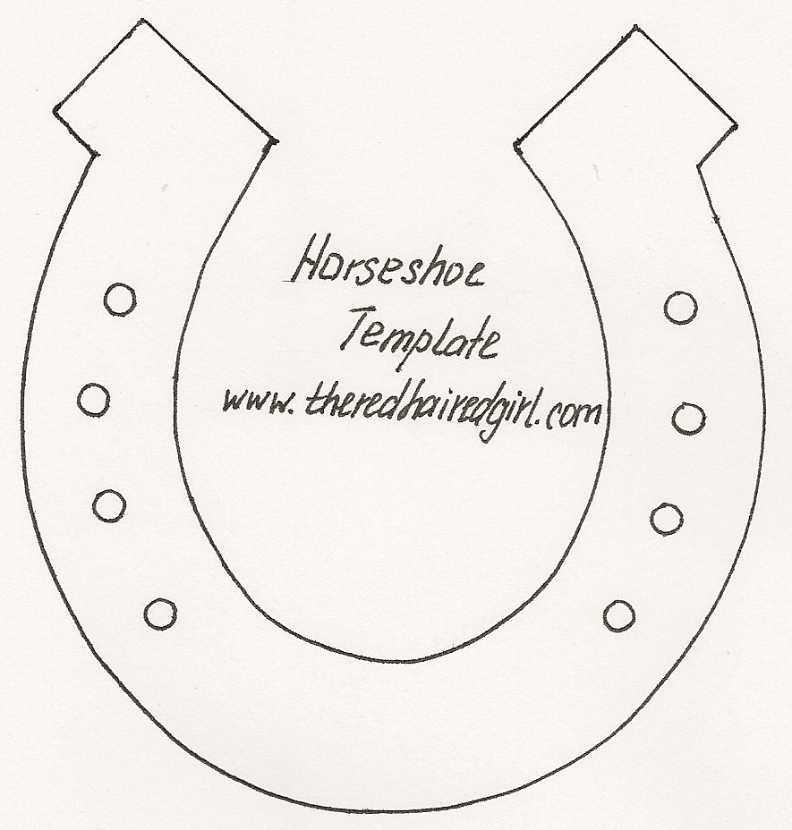 Double horseshoe template - photo#6