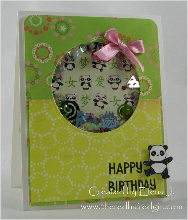 Panda Shaker Card